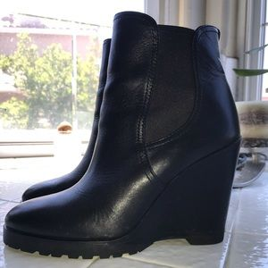 Michael Kors leather wedge bootie. Worn 3-4 times